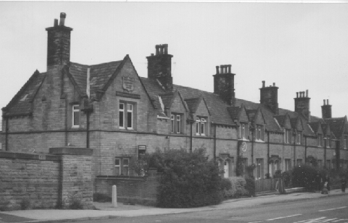 row of Victorian almshouses