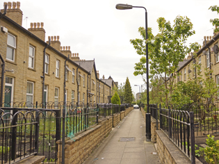 West Hill Park inward facing terraced houses
